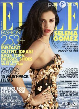 Selena Gomez en couverture d'ELLE US