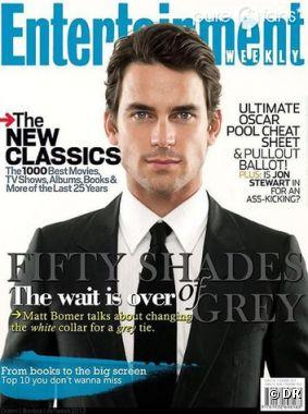 Une fausse couverture d'Entertainment Weekly pour annoncer le (faux) casting de Matt Bomer dans Fifty Shades of Grey