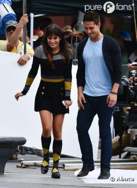 Lea Michele et Dean Geyer très proches sur le tournage de Glee !
