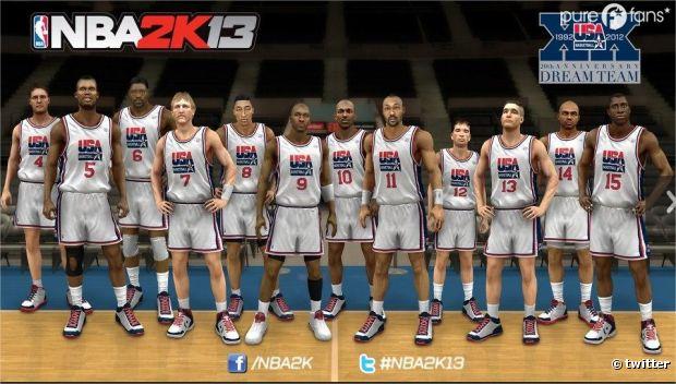 Hâte de jouer avec la Dream Team de NBA 2K13 ?