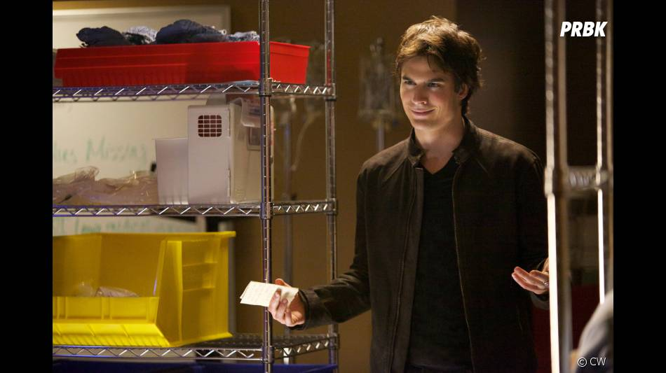 Damon en pleine négociation dans  Vampire Diaries  !