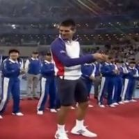 Novak Djokovic en mode Gangnam Style à Pékin (VIDEO)
