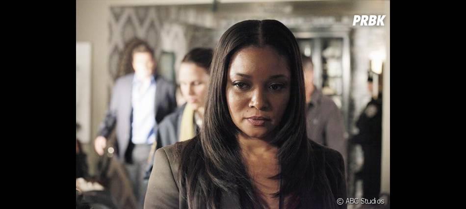 Lanie ne semble pas rassurée dans l'épisiode 5 de la saison 5 de  Castle