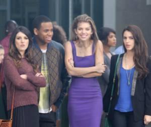 Les acteurs de 90210 en plein tournage