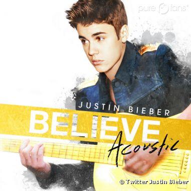 """Justin Bieber a dévoilé la pochette de """"Believe Acoustic"""" !"""