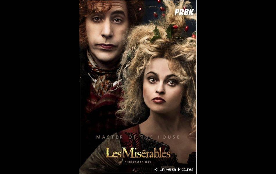 Helena Bonham Carter et Sacha Baron Cohen incarnent le couple Thénardier dans Les Misérables