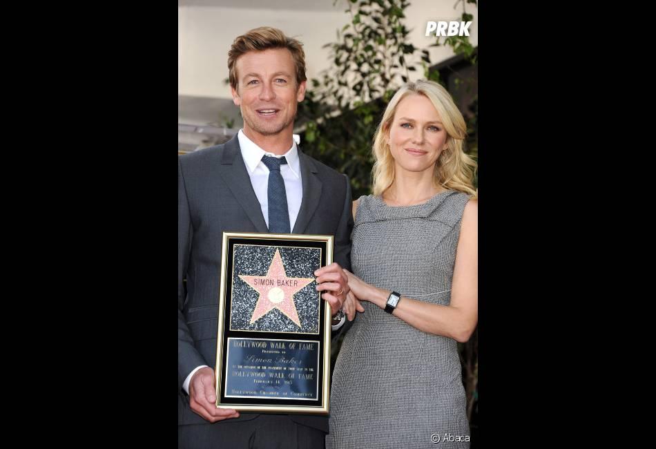 """Naomi Watts a rendu hommage à Simon Baker sur le """"Walk of Fame"""""""