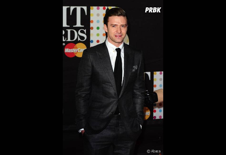 "Justin Timberlake a sorti le ""Suit and Tie"" aux Brit Awards 2013"