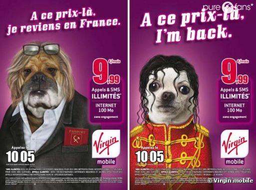 Virgin Mobile parodie Gérard Depardieu et Michel Jackson