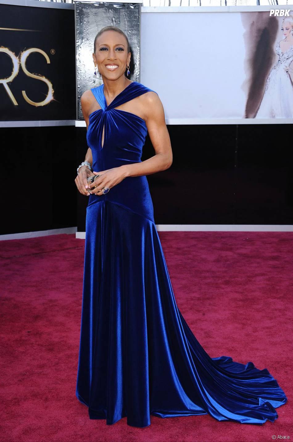 Robin Roberts a récupéré les rideaux de sa grand-mère pour les Oscars 2013...