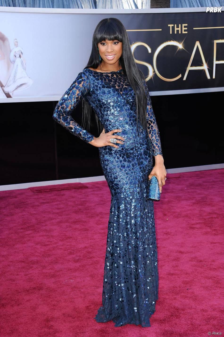 Jennifer Hudson était tout en élégance en Roberto Cavalli pour les Oscars 2013