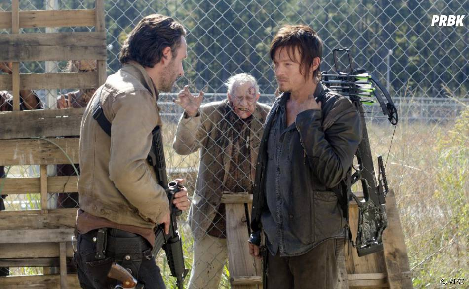 Daryl et Rick dans l'épisode 15 de la saison 3 de Walking Dead
