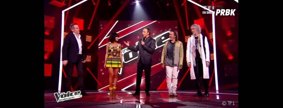 Les quatre coachs ont investi le plateau de The Voice 2 pour la première soirée des Lives.