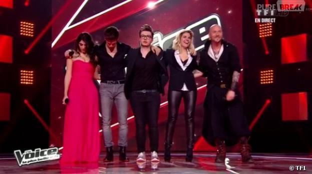 L'équipe de Jenifer était présente sur le plateau de The Voice 2.