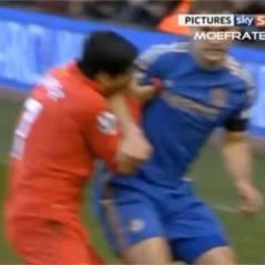 Luis Suarez serial-mordeur : il plante ses dents dans le bras d'Ivanovic et fait son mea-culpa