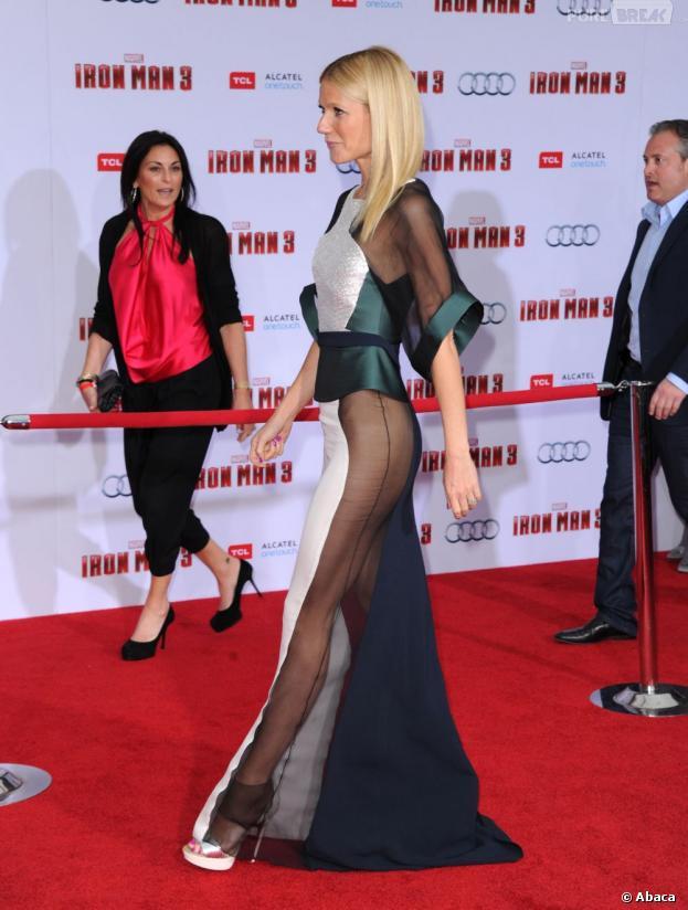 Gwyneth Paltrow ose le transparent pendant l'avant-première d'Iron Man 3