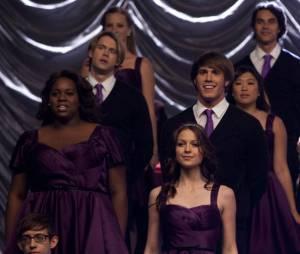 Le violet portera-t-il chance aux personnages de Glee ?