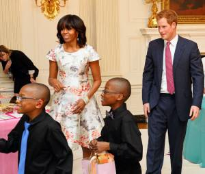 Le Prince Harry rend visite à Michelle Obama à la Maison Blanche, Washington, le 9 mai 2013