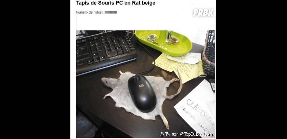 """Un """"tapis de souris en rat beige"""" à vendre sur Le Bon Coin"""