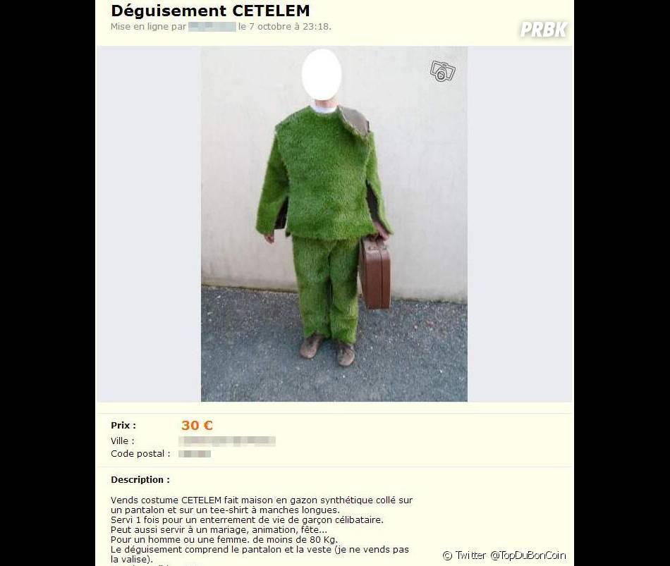 Un déguisement Cetelem à vendre sur Le Bon Coin