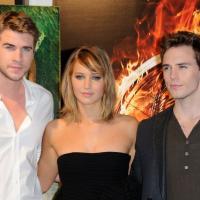 Jennifer Lawrence, Liam Hemsworth, Sam Claflin : trio de choc sur la Croisette pour Hunger Games 2
