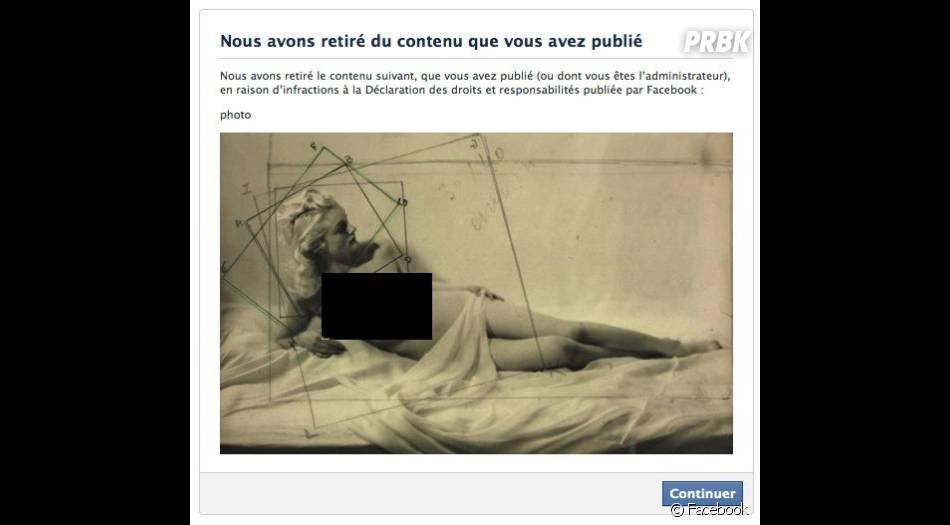 Une photo de nu artistique publiée par le musée du Jeu de Paume censurée par Facebook