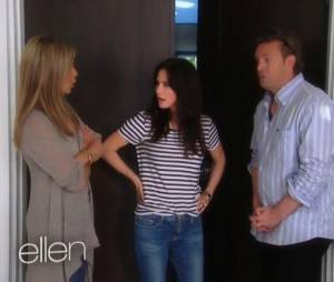 Réunion Friends entre Matthew Perry, Jennifer Aniston et Courteney Cox