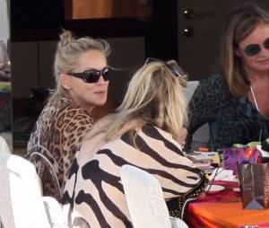 Sharon Stone sans maquillage, lendemain difficile à Cannes 2013 le 23 mai