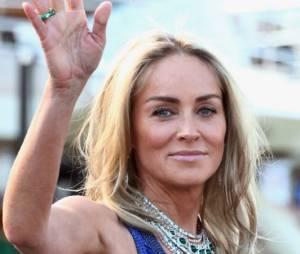 Sharon Stone, avec et sans maquillage au Festival de Cannes 2013