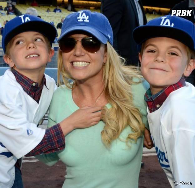 Britney Spears et ses deux enfants Sean Preston et Jayden James.