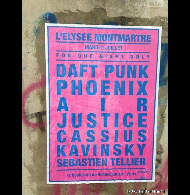 Des fausses affiches de concert plcacardées dans Paris s'attirent les foudres des fans de Daft Punk et Justice
