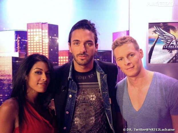 Thomas Vergara en compagnie d'Ayem Nour et Matthieu Delormeau dans le Mag.