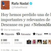 """Rafael Nadal : """"RIP Nelson Mandela"""", la vilaine faute directe de Mister Roland Garros sur Twitter"""