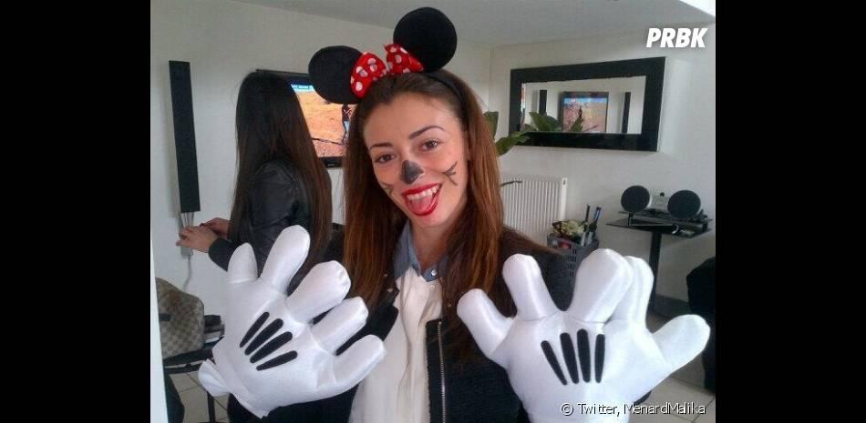 Rachel Legrain-Trapani (Miss France 2007) déguisée en Minnie pour son enterrement de vie de jeune fille