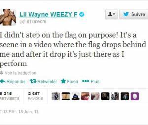 Lil Wayne revient sur la polémique de God Bless Amerika sur Twitter