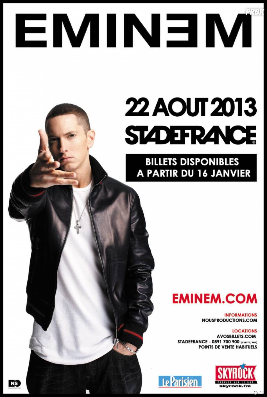 Eminem sera au Stade de France le 22 août 2013