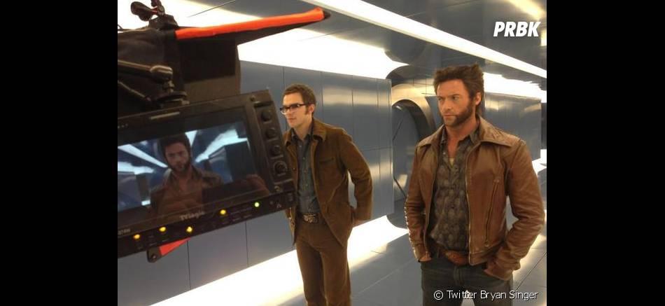 Nicholas Hoult et Hugh Jackman en plein tournage de X-Men Days of Future Past