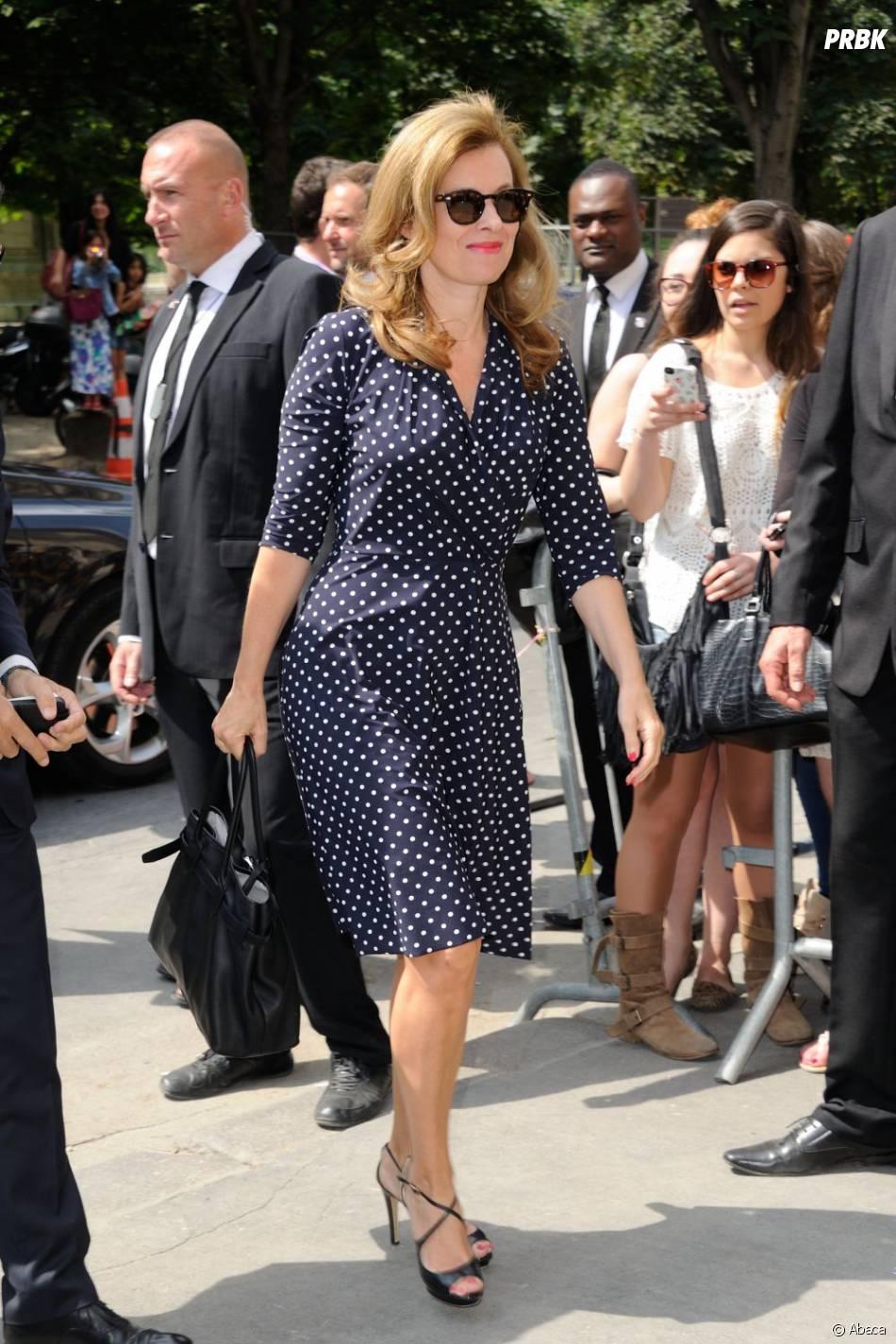 Valérie Trierweiler au défilé Chanel le 2 juillet 2013 à la Fashion Week de Paris