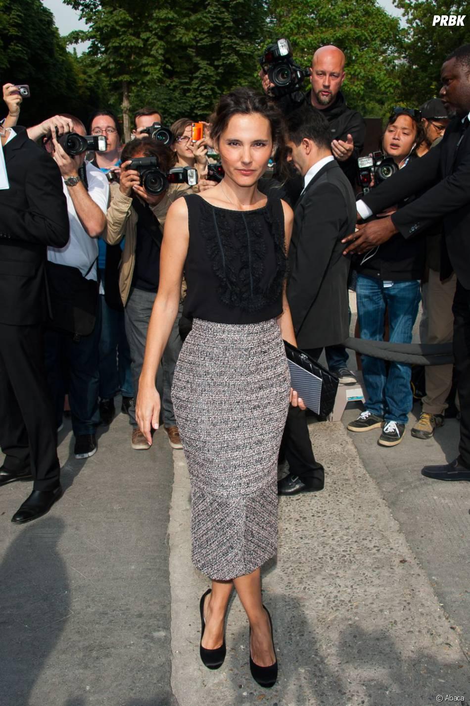 Virginie Ledoyen au défilé Chanel le 2 juillet 2013 à la Fashion Week de Paris