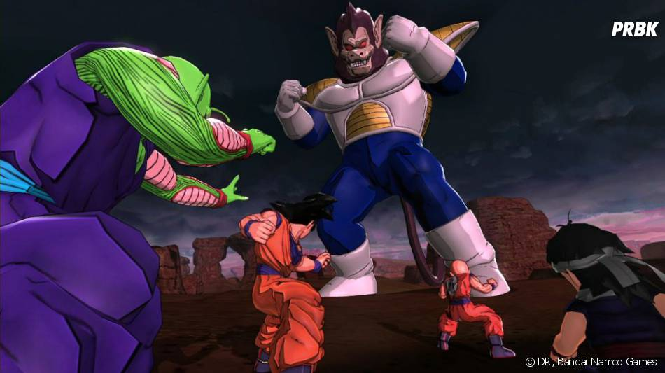 Dragon Ball Z Battle Of Z Son Goku Et Petit Coeur Contre Vegeta En Mode Gorille Purebreak