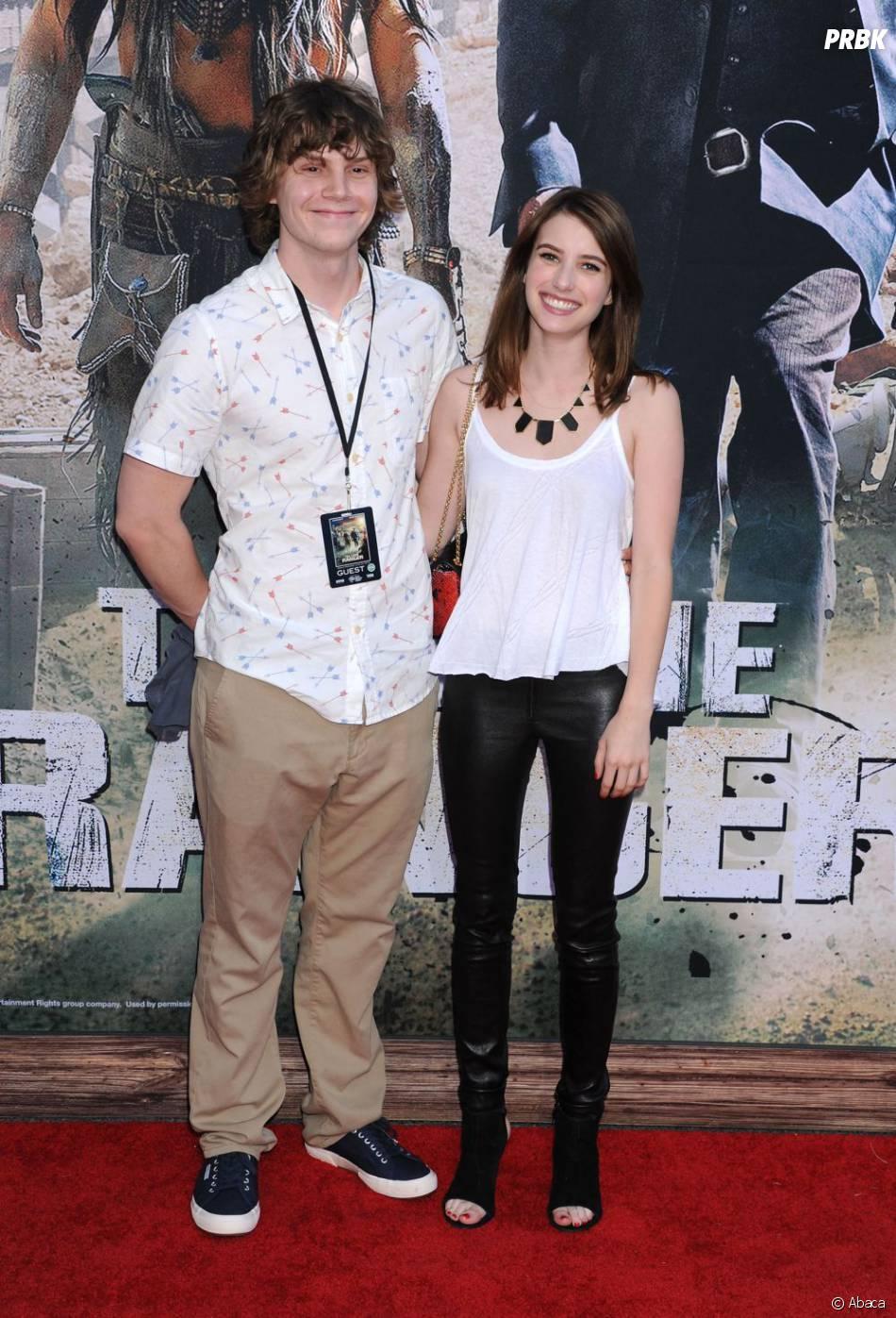 Emma Roberts et Evan Peters à l'avant-première de Lone Ranger, le 22 juin 2013 à L.A