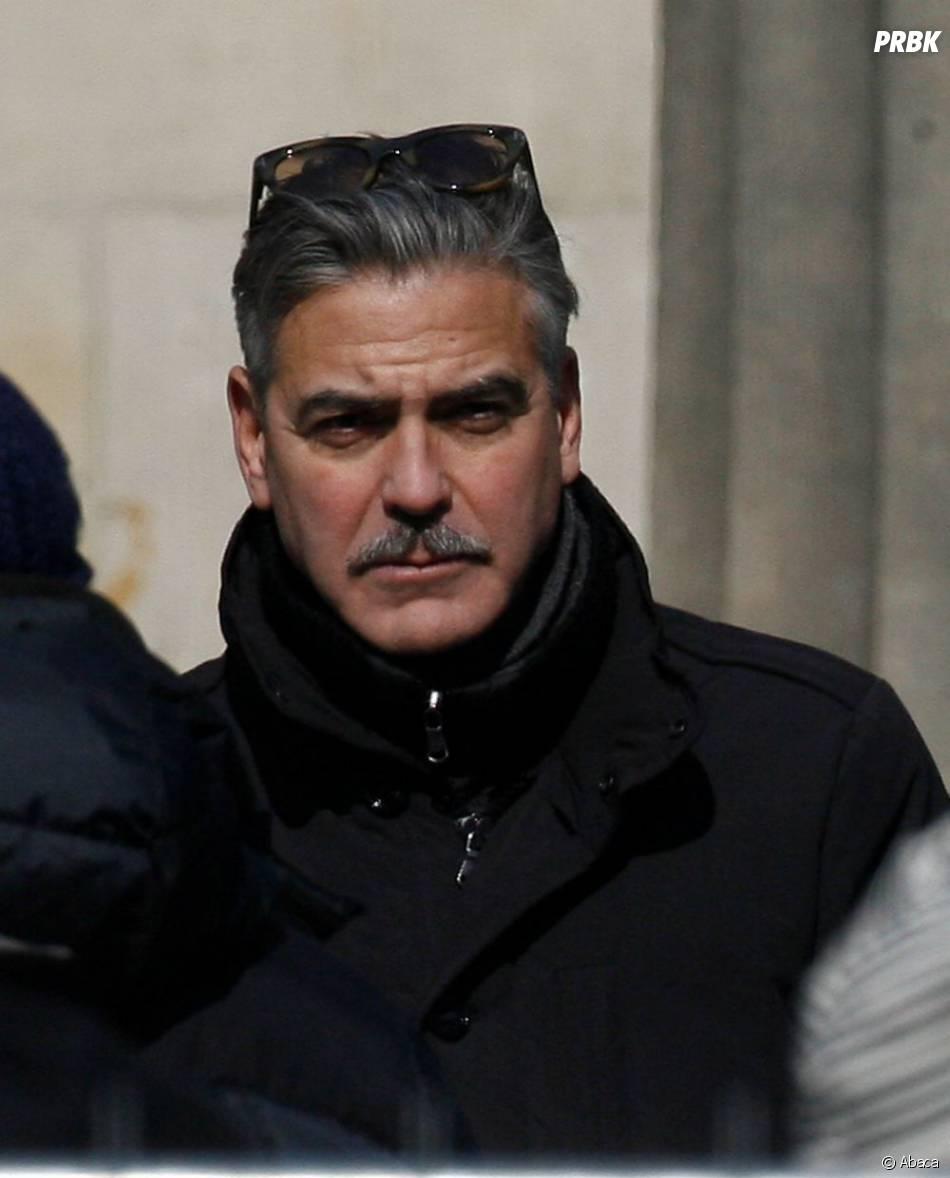 George Clooney à Berlin en mars 2013, sur le tournage de Monuments Men