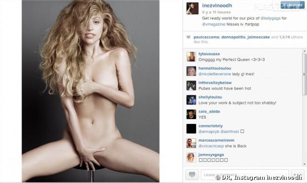 Lady Gaga : nue et sans maquillage pour V