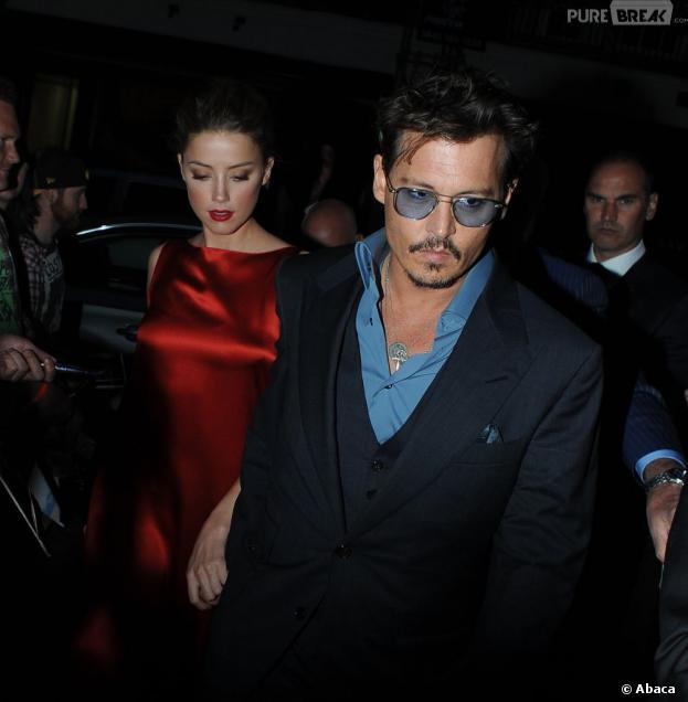 Johnny Depp et Amber Heard devant le C Restaurant à Londres, le 21 juillet 2013