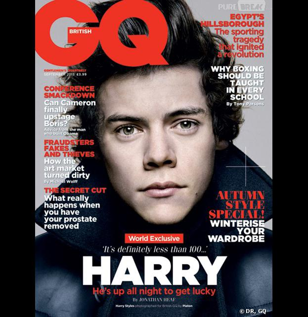 Harry Styles des One Direction, en Une de GQ en septembre 2013