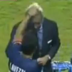 PSG : Ezequiel Lavezzi VS Frédéric Thiriez, battle de décoiffage pendant le Trophée des Champions 2013