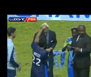Ezequiel Lavezzi VS Frédéric Thiriez pendant le Trophée des Champions 2013