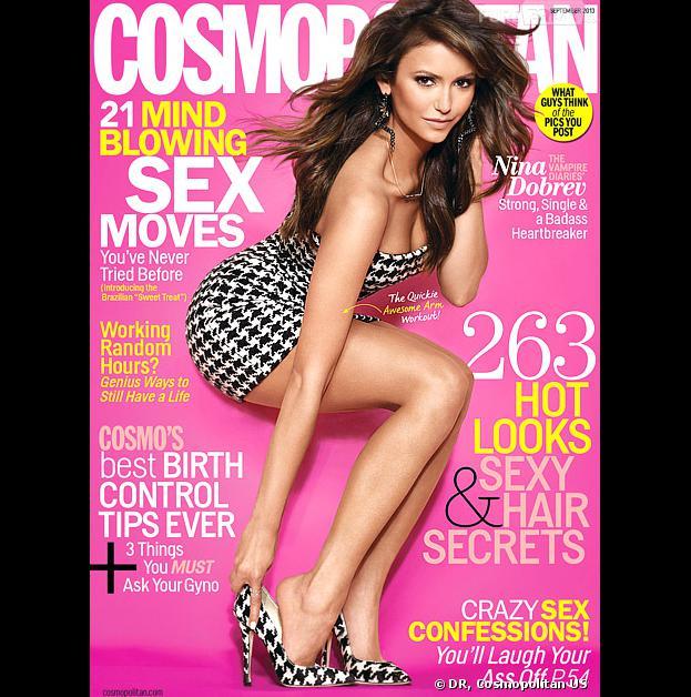 Nina Dobrev sexy en Une de Cosmopolitan US