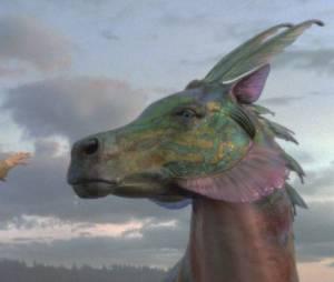 Un hippocampe vient à la rescousse de Percy, Annabeth et Tyson dans Percy Jackson : La Mer des Monstres