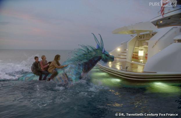 Percy Jackson - La Mer des Monstres : photos exclu avec Logan Lerman et un hippocampe majestueux